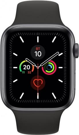 Часы Apple Watch Series 5 40мм серый космос+спортивный ремешок чёрный