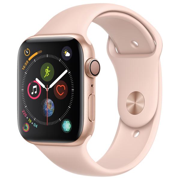 Часы Apple Watch Series 4 44мм золотого цвета+спортивный ремешок розовый