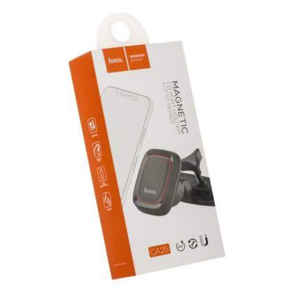 Держатель для телефона HOCO CA25 магнитный в дисковод магнитолы