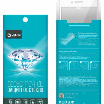 Защитное стекло iPhone 6 10D Dream белый