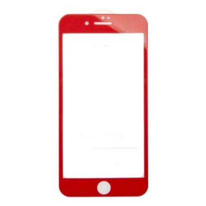 Защитное стекло iPhone 6 5D Glass красный