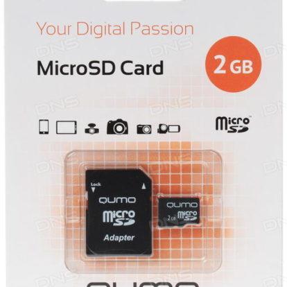 Micro SD 2Гб 6 класс Qumo с адаптером