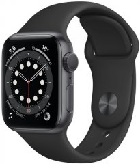 Смарт-часы Apple Watch S6 44mm Space Gray Aluminum Case with Black Sport Band