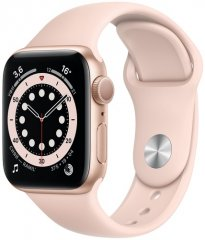 Смарт-часы Apple Watch S6 44mm Gold Aluminum Case with Pink Sand Sport Band