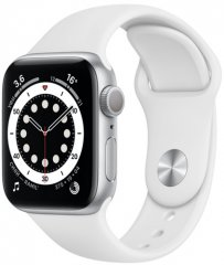 Смарт-часы Apple Watch S6 40mm Silver Aluminum Case with White Sport Band