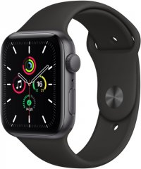 Смарт-часы Apple Watch SE 44mm Space Gray Aluminum Case with Black Sport Band