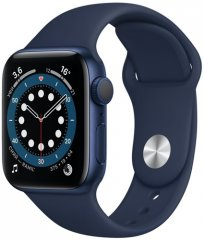 Смарт-часы Apple Watch S6 44mm Blue Aluminum Case with Deep Navy Sport Band